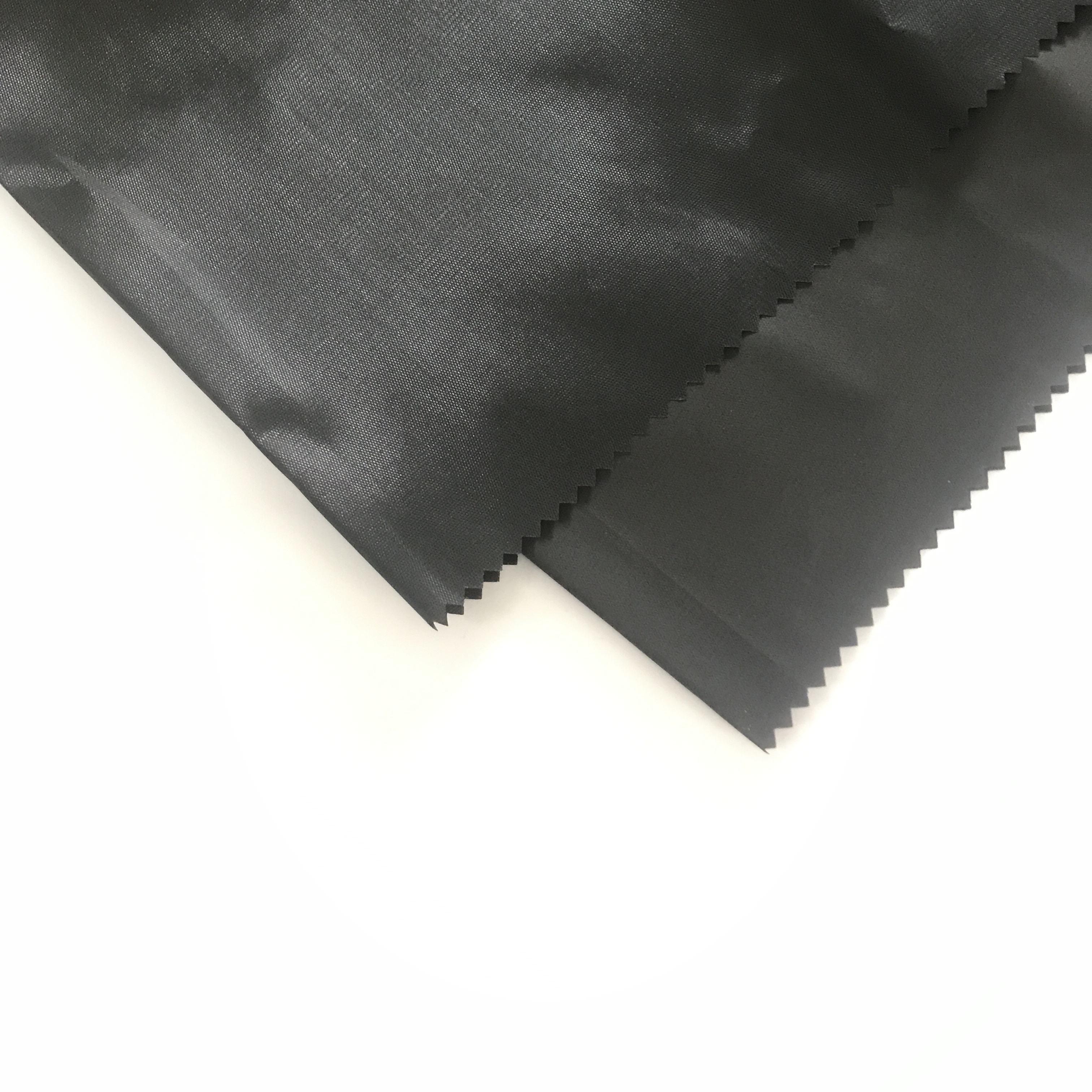 "170T Polyester Fabric Black Peacock Taffeta Lining PA Coated Fabric 68""Cheap Pongi For India Market"