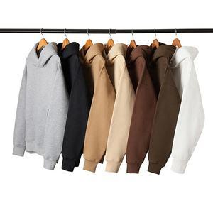 Wholesale High Quality Plain Hoodies Sweatshirt Unisex Hip Hop Oversized Custom Hoodie