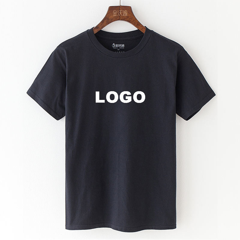 Wholesale Mens Blank camisas 100% cotton Short Sleeve tshirt printing High Quality Plain Custom Logo Printed Black t shirts
