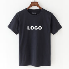 Wholesale Mens Blank camisas 100% cotton  tshirt printing High Quality Plain Custom Logo Printed Black t shirts