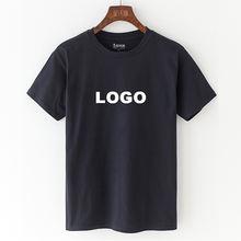 Wholesale Mens Blank camisas 100% cotton  tshirt printing High Quality Plain Custom Logo Printed Black t shirts