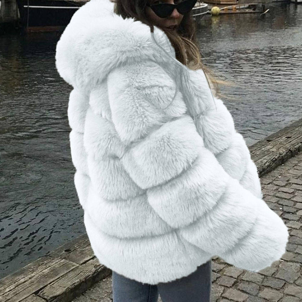 Winter Thick Warm Fashion Outerwear quilted thicken overcoat Fox fur coat High Quality Long Overcoat