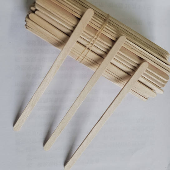 2020Factory wooden Disposable individual paper wrapped wooden coffee stirrers