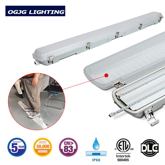 OGJG customized sample IP66 4ft 120cm dust proof fittings waterproof led vapor tight fixture triproof linear light