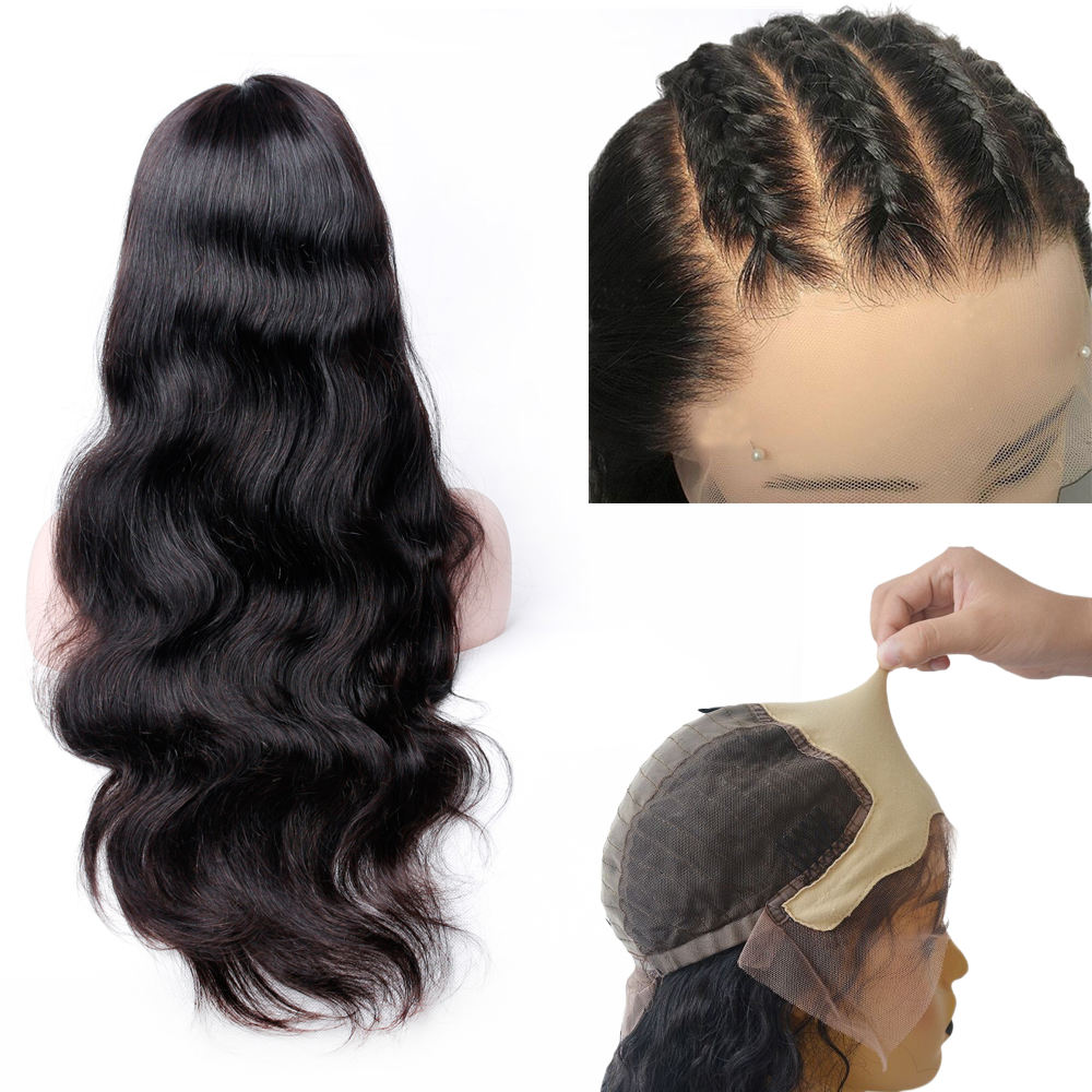 Body Wave Fakee Scalp Wig 13x6 Lace Front Human Hair Wigs for Black Women Brazilian Remy Glueless Pre Plucked With Baby Hair