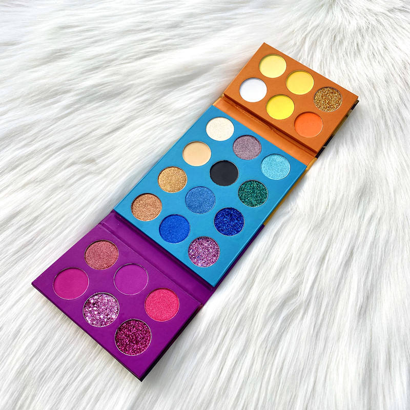 Private Label Hot selling Eyeshadow Pressed Powder 24 Colors Glitter Shimmer Eyeshadow Makeup