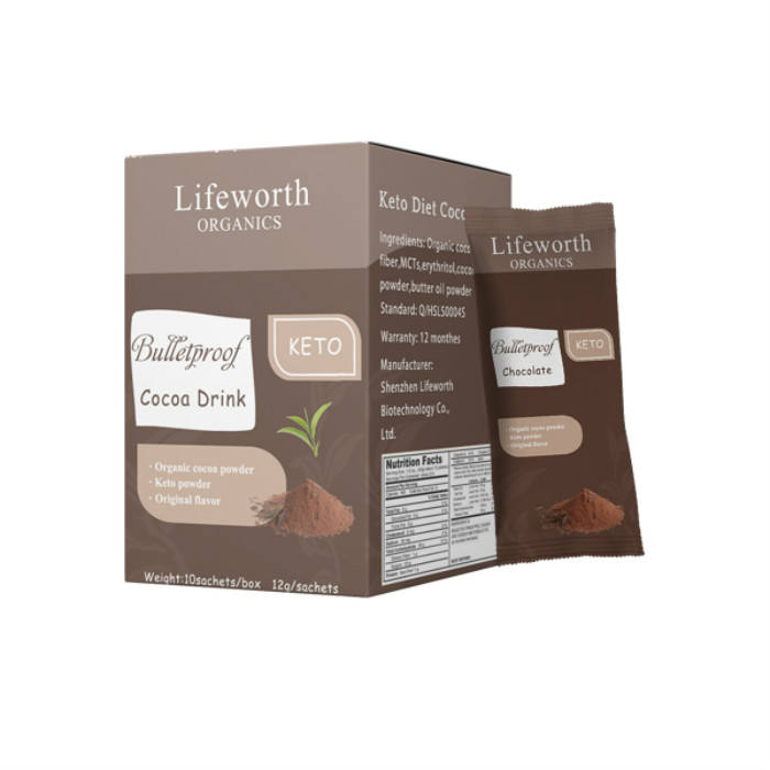Lifeworth instant BHB coconut oil chocolate cocoa slimming drink powder