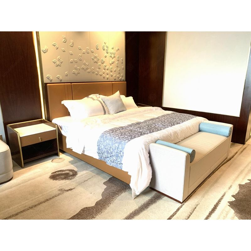 Foshan Shangdian Furniture Factory Custom Made Modern 5 Star Hilton Hotel Furniture Bedroom Sets