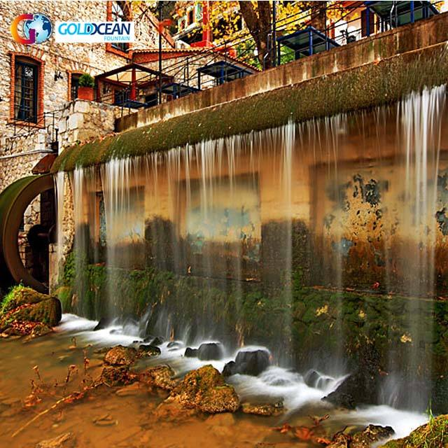 FREE DESIGN China Manufacture Customized Indoor Water Fall Wall Mounted Waterfall