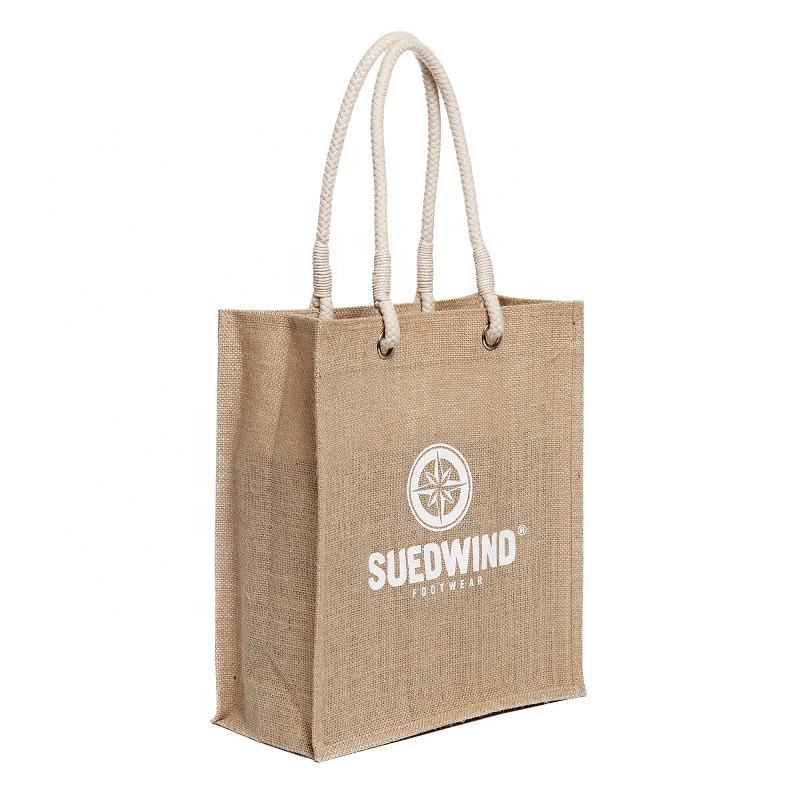 Germany market customized silkscreen printing grocery tote jute bags bangladesh