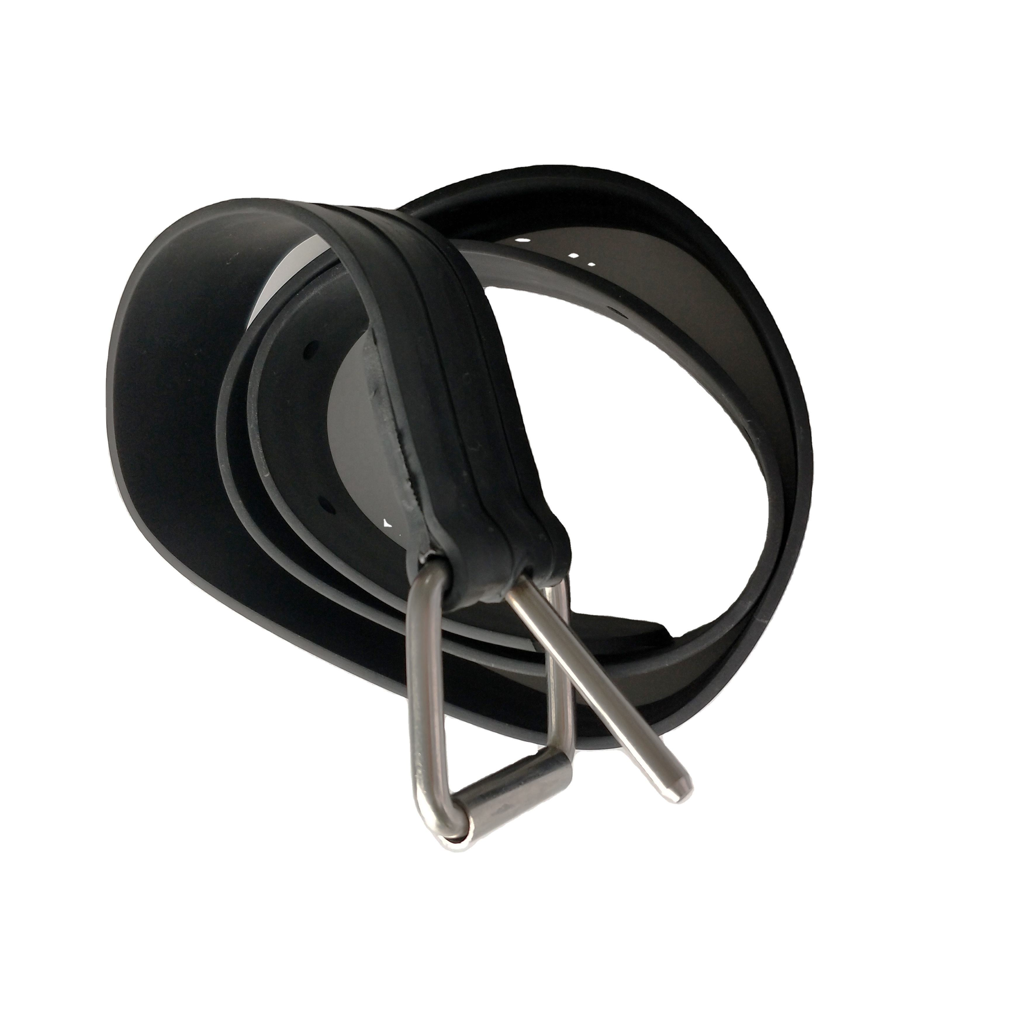 Spearfishing freediving rubber weight belt with SS fastener