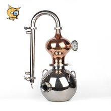 ALL IN New Design Copper and 304 Stainless Steel Home Distilling Equipment Stainless distiller Gourd Shaped Distiller