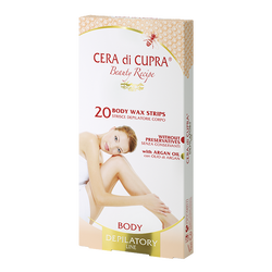 Cera di Cupra 20 Body wax strips + 2 After waxing wipes with Aloe Extract