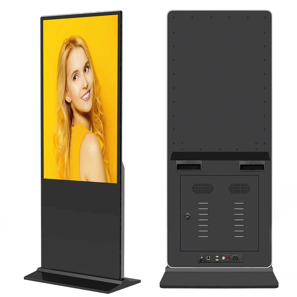 43 49 55 65 inch floor stand lcd display touch screen indoor android advertising information totem retail digital signage