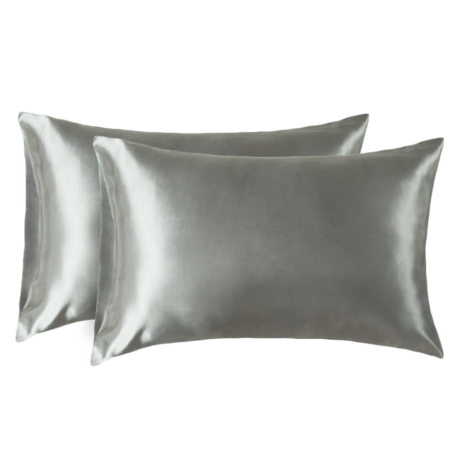 Queen Size Silk Satin Pillowcase 2 Pack for Hair and Skin