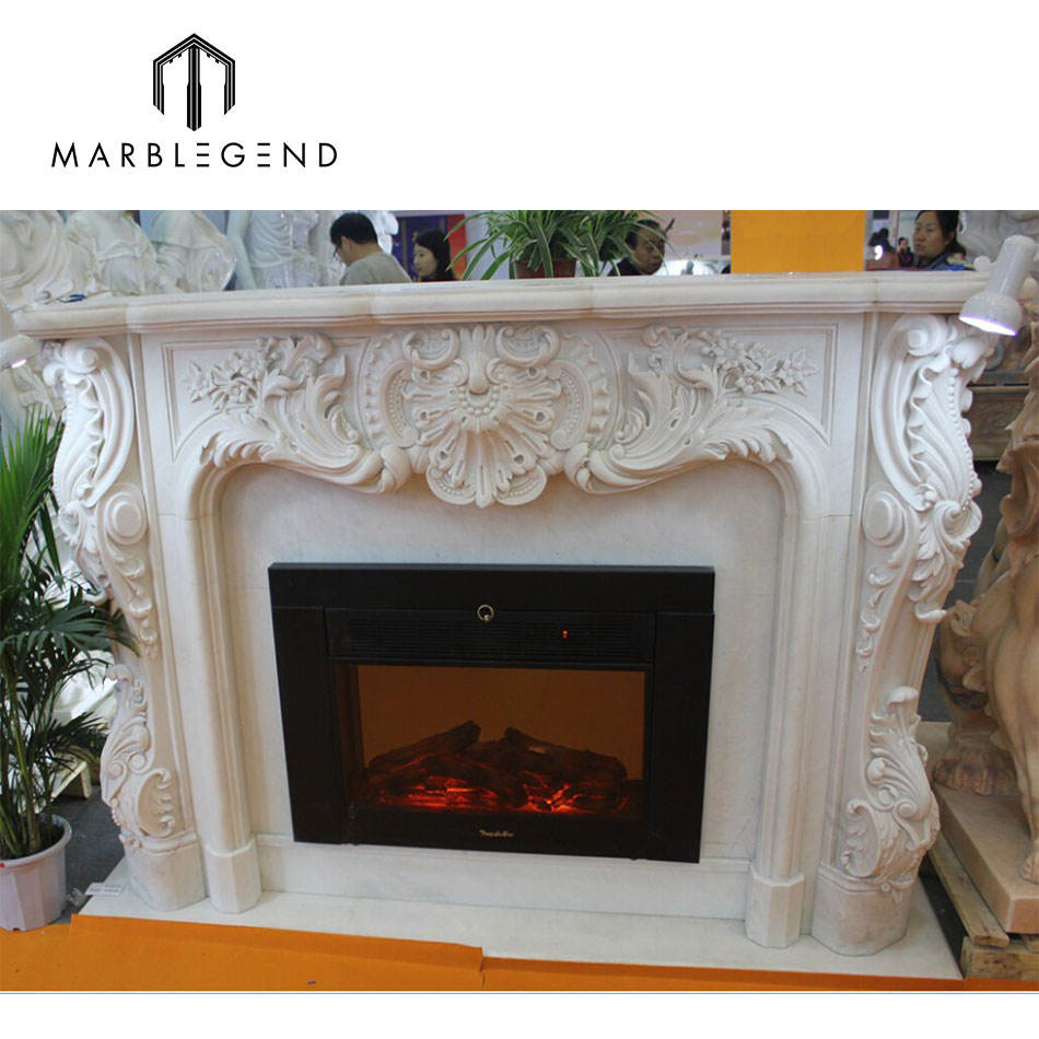 Russian style small electric fireplace mantel modern