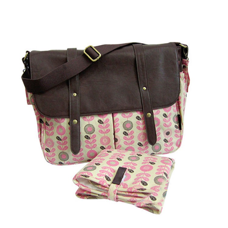 Best Design Fashion Cotton Baby Diaper Bag Fashion Travel Bag For Lady