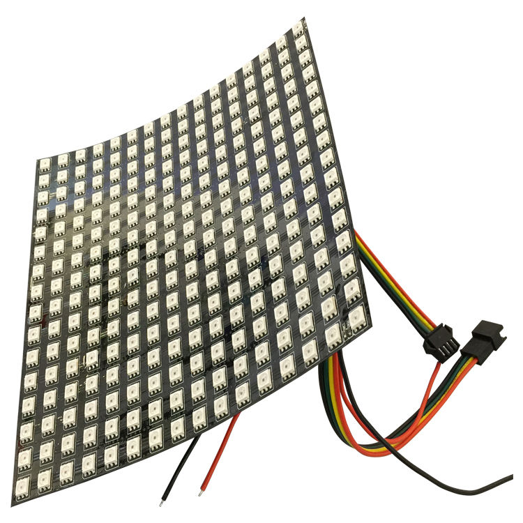 APA102C 8X32 rgb led matris led piksel DMX kontrol led video duvar paneli