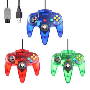 Transparent USB Wired Console Port For Nintend N64 Gamepad Joystick For N64 Controller Joypad