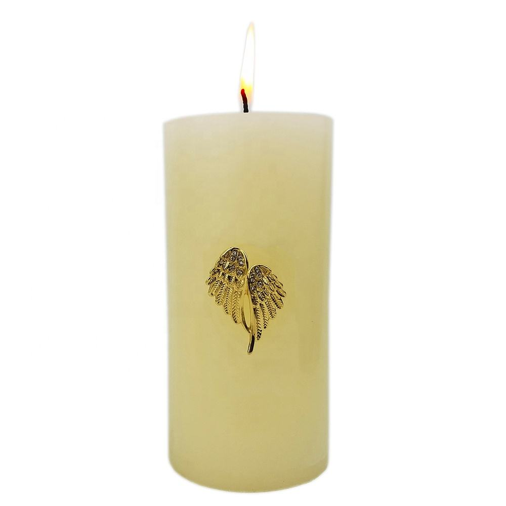 metal angel wings candle pin for christmas decoration