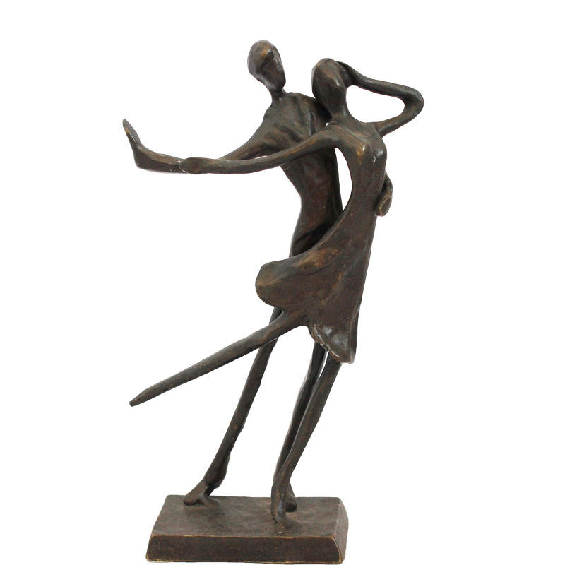 European cast iron metal handicraft bronze sculpture Latin dance
