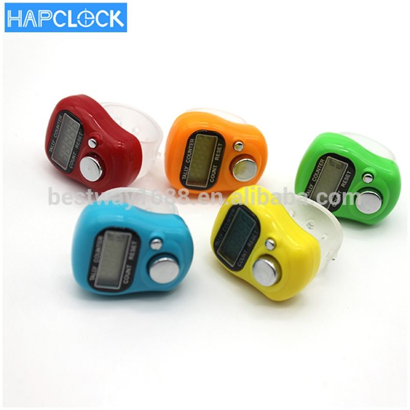 LCD Electronic plastic digital muslim Counter Finger ring Hand Tally Counter for customized