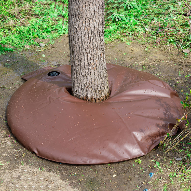 and Plants Hydro-Seep 15 Gallon Water Saving Slow-Release Watering Ring for Trees Shrubs UV Resistant