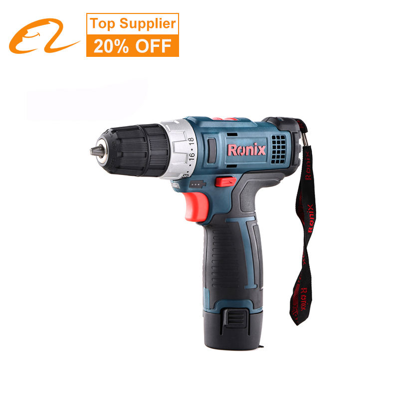 2020 Ronix New Design Power Hand Heavy Duty Cordless Drill 12V Electric Model 8612C