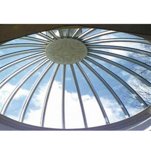 Xuzhou LF 5mm 6mm 8mm 10mm 12mm 15mm Curved Toughened Glass Shopping Mall Glass Roof dome building Price
