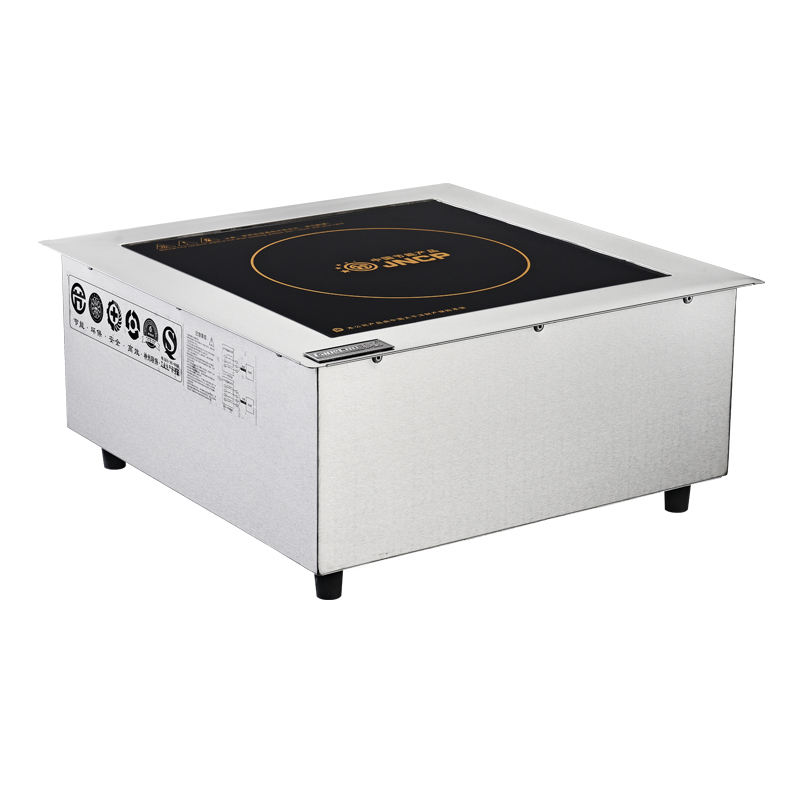 Cooking regulating range 2400- 5000w Stainless Steel Induction Cooker with Black Crystal Glass