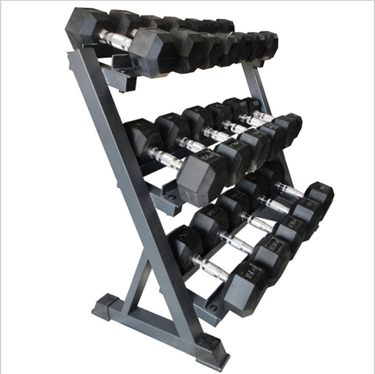 Made in China wholesale dumbbell set with rack