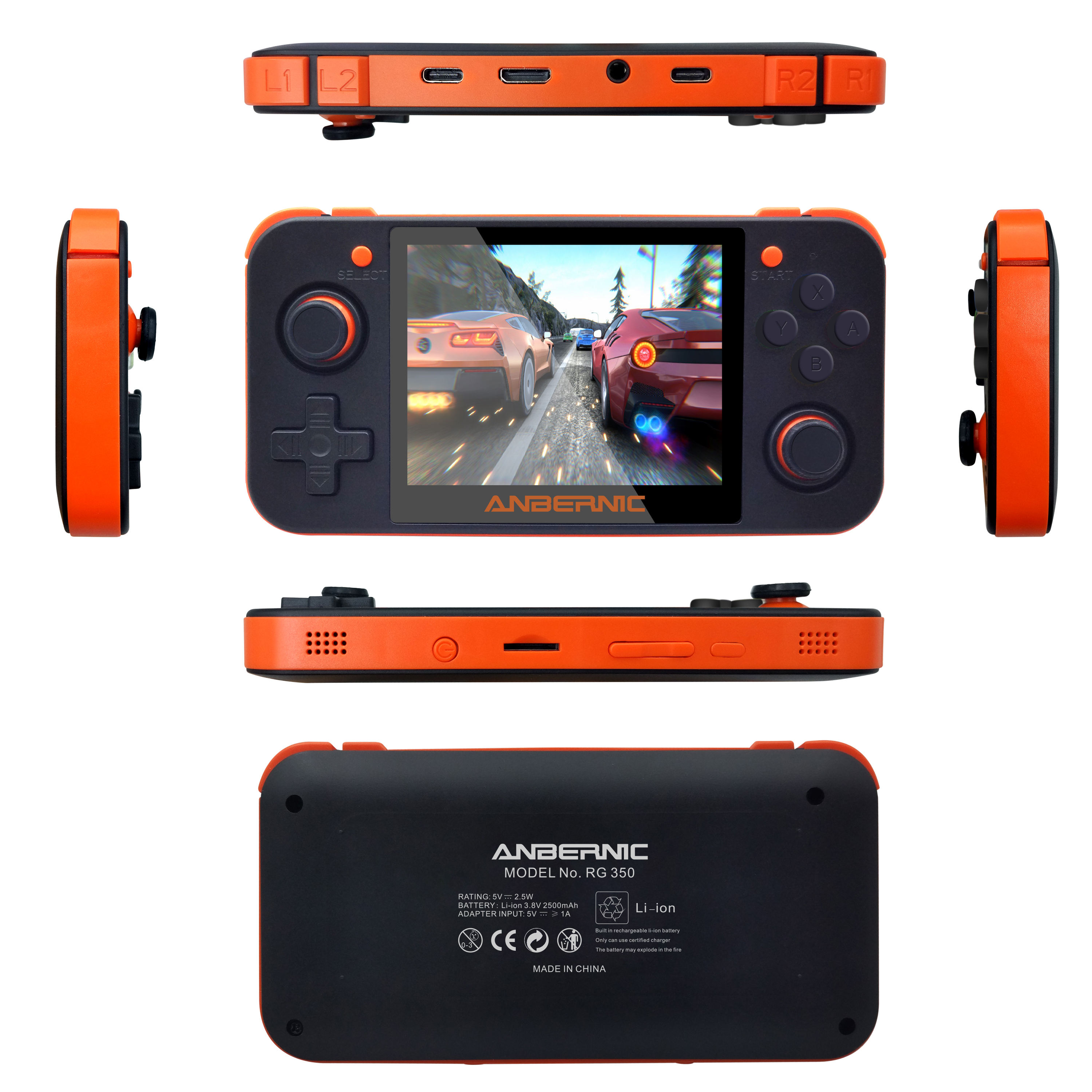 Retro Handheld Game Console 3.5 inch IPS WXGA Screen Classic Portable TV Video Player Game Console RG350