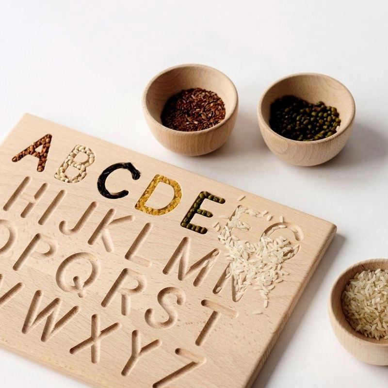 Amazon is selling high quality wooden toys with upper and lower case letters for creative learning in 2020