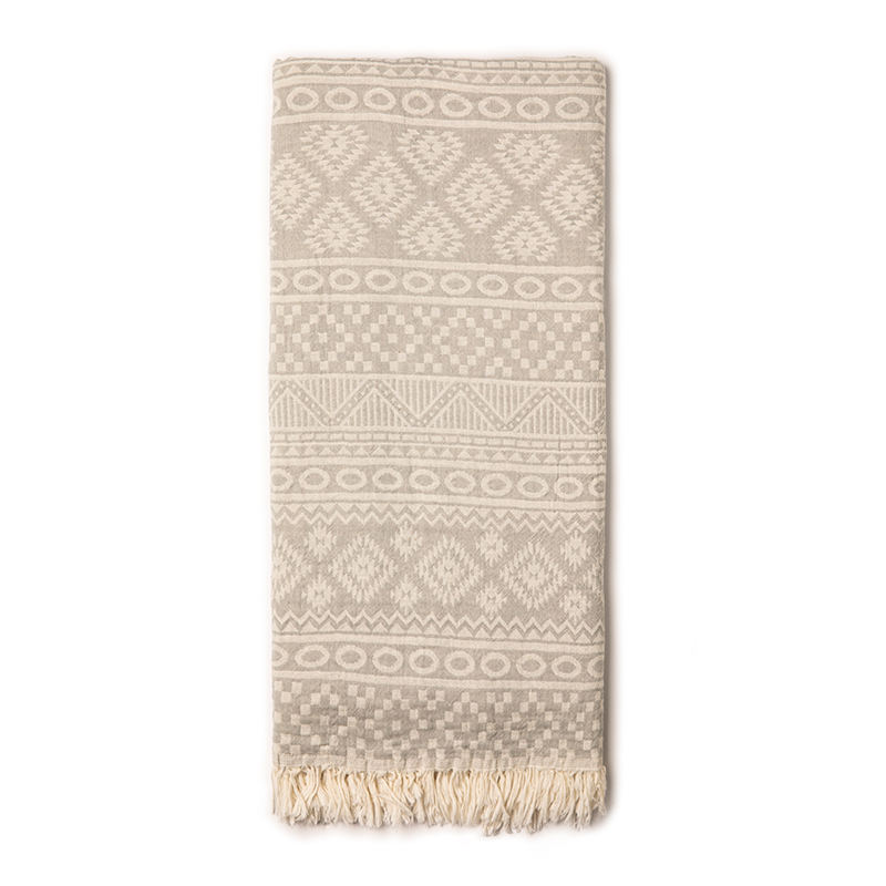 Geometric New Pattern Wholesale Turkish Towel 100% Cotton Made in Turkey