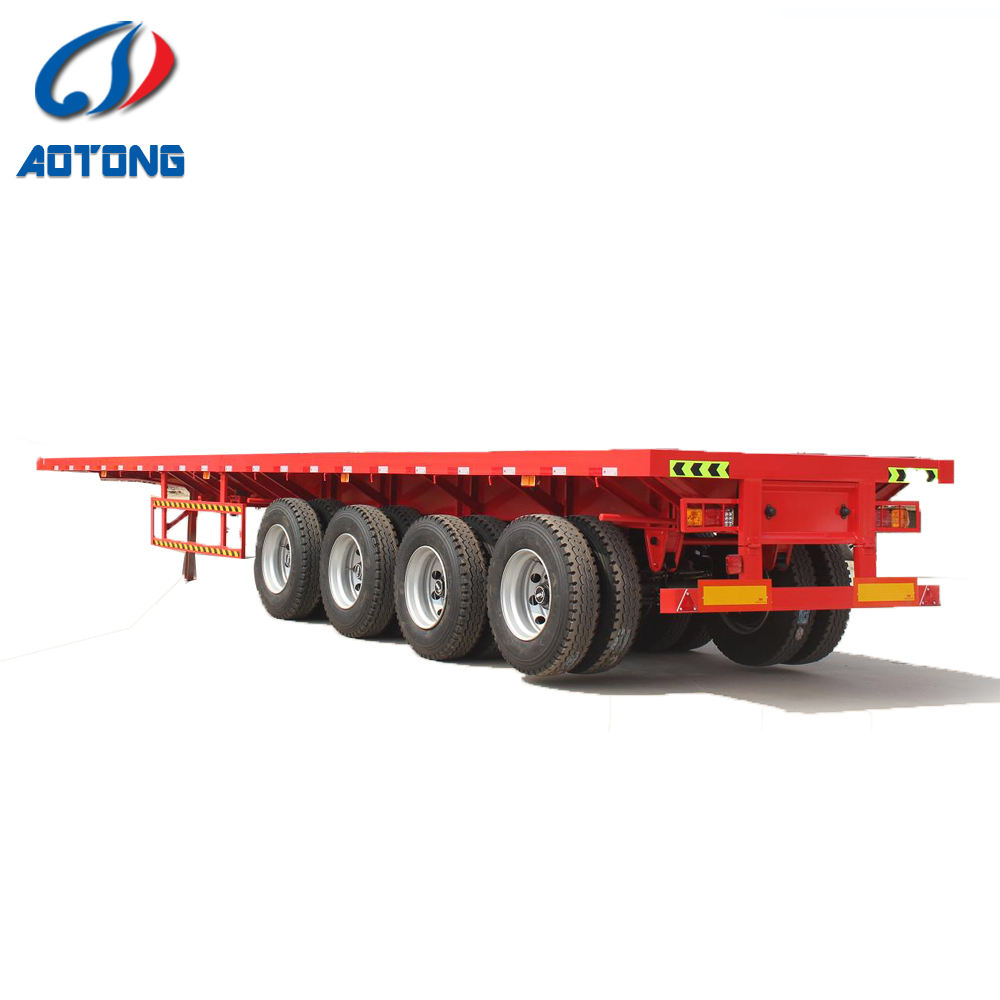 2 axles CCC certificate tanzania used flatbed trailer for sale with parts fruehauf trailer
