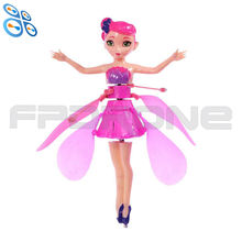 hot selling flying fairy induction fairy lol doll rc flying toy luminous drone kid s electr induction aircraft
