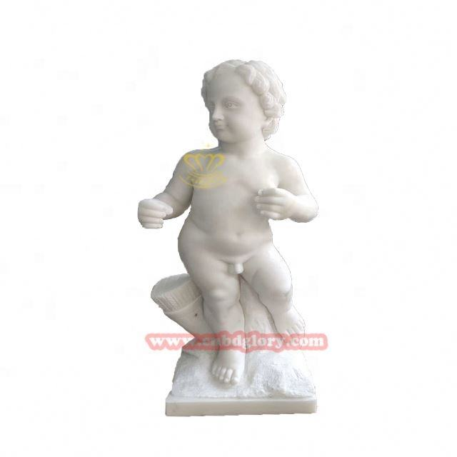 Natural Stone Newstar High Quality Modern Sculpture / Marble Statues Children