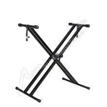 NEW Pyle one Tier Double custom adjustable computer X Braced Heavy-duty Keyboard Stand