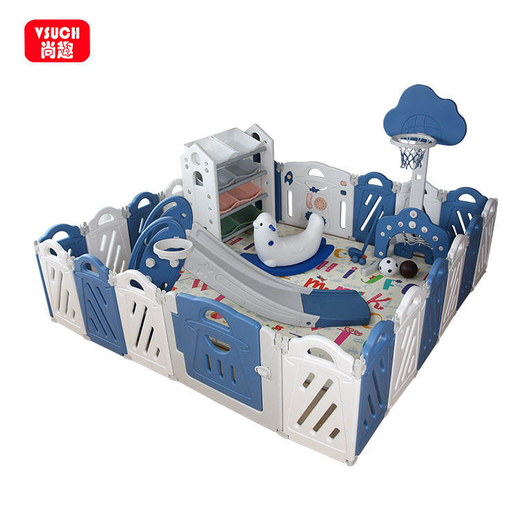 Foldable Eco-Friendly Indoor Playground Safety Fence Baby Plastic Playpen