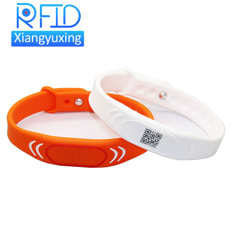 Rfid Silicone Wristbands Manufacturer Waterproof 13.56mhz Nfc Silicone Bracelet Adjustable Rfid Wristband