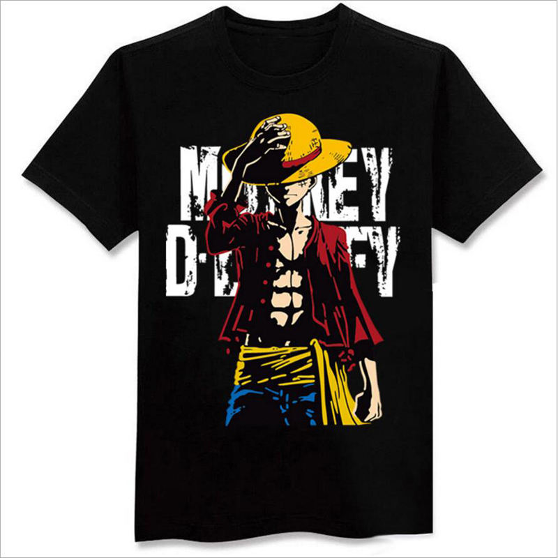 2020 Custom Made One Piece Luffy Anime T shirt 3D Print t-shirt Custom Design Good Quality Anime T Shirts