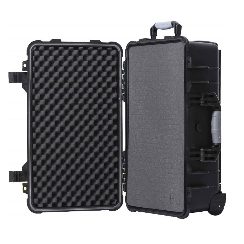 Waterproof Carry-On Hard Case with Wheels and Customizable Foam for Camera and More 86001