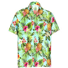 Men's Cool Casual  Regular Fit Button-Down Collar Beach  Short Sleeves Shirt