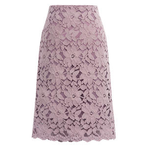 Elegant Women Pencil Skirts Solid Color Office Lady Long Lace Skirt YF80140