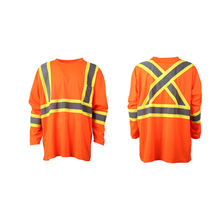 Hi Vis Cheap Safety Long Sleeve Yellow Orange Tee Men Safety T Shirt