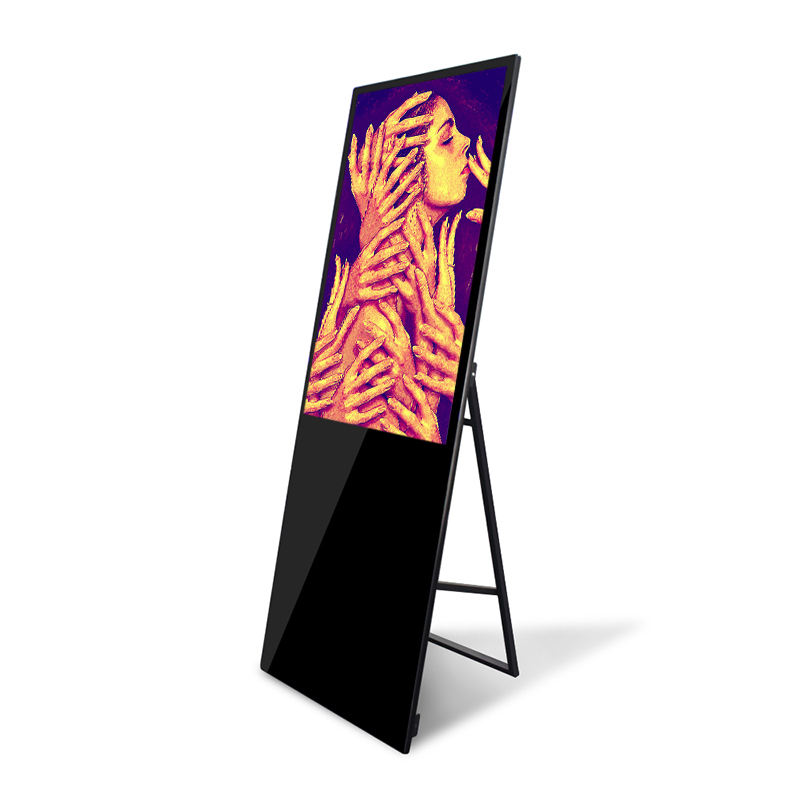 Indoor 43 inch digital signage totem ultradunne reclame speler touch screen monitor floor stand billboard voor restaurant