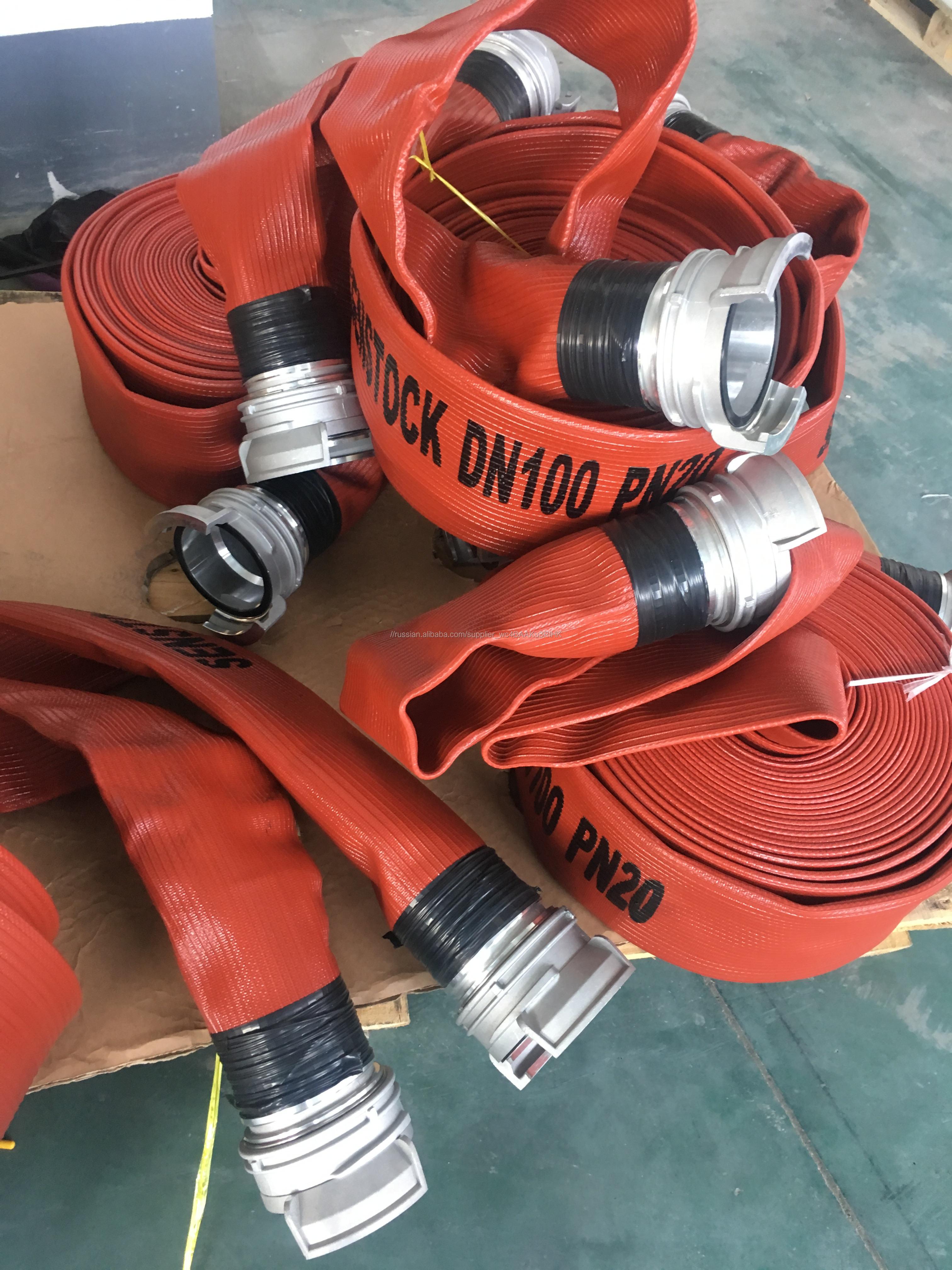 Высокое сопротивление давления красный цвет прочный пожарный шланг