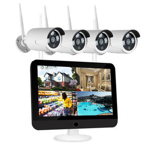 1080P Keamanan Rumah Sistem Kamera CCTV Video Surveillance Kit 4CH 12 Inch LCD Monitor NVR Kit Onvif 2MP Outdoor kamera WiFi