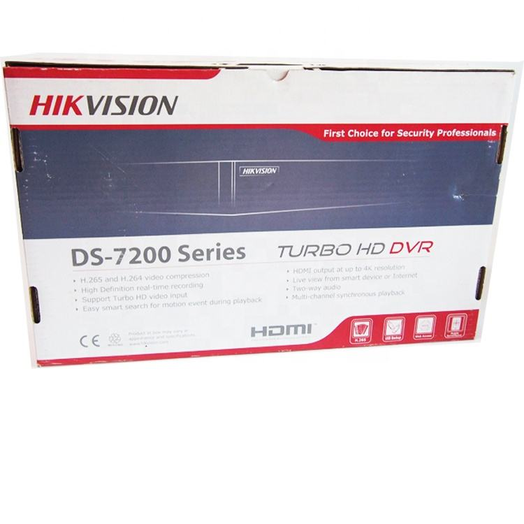 Hik visión 4-ch síncrono reproducción 4MP Turbo HD DVR DS-7204HQHI-K1 1HDD Puerto Turbo HD DVR