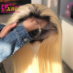 150% Density Brazilian Straight Lace Front Human Hair Wigs Ombre Human Hair Wig for Black Women 1B/613 Ombre Wig